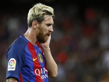 Messi tras la derrota ante el Alavés