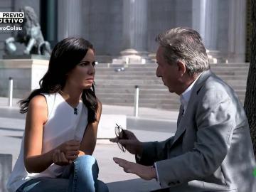 Iñaki Gabilondo, a las puertas del Congreso, junto a Ana Pastor