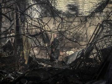 Imagen de escombros en Damasco