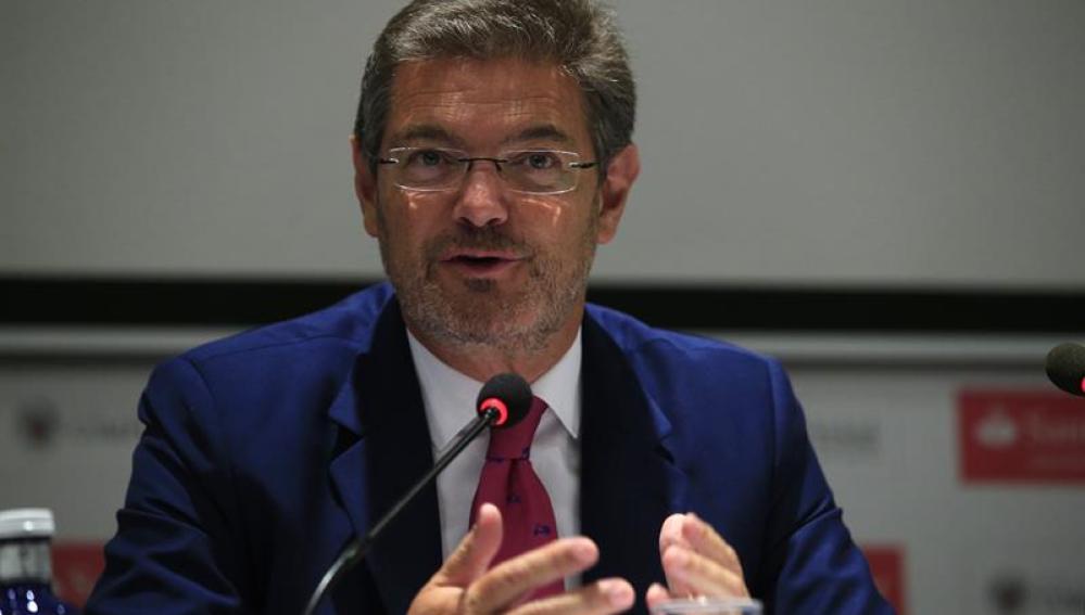 Imagen del ministro de Justicia y Fomento en funciones Rafael Catalá