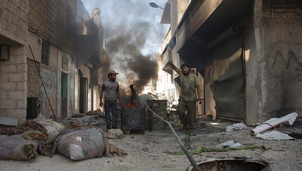 Imágenes de archivo de Alepo tras un bombardeo