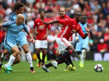 Pogba, en acción ante el Manchester City