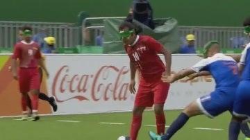 Un jugador invidente de Irán marca un golazo en los Juegos Paralímpicos de Río.