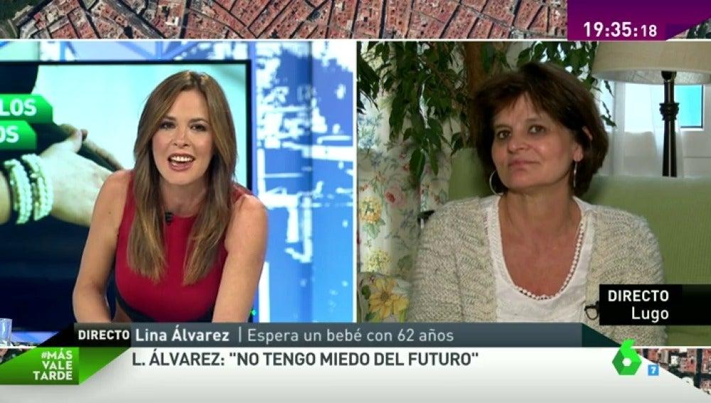 """Lina Álvarez, embarazada con 62 años: """"No tengo miedo al futuro. Tendré todo el tiempo del mundo para mis hijos"""""""