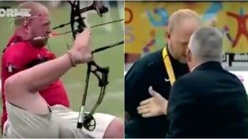 Intenta dar la mano a un atleta sin brazos