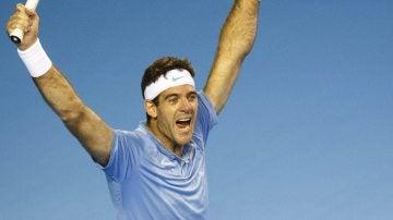 Del Potro, celebrando la victoria ante Murray