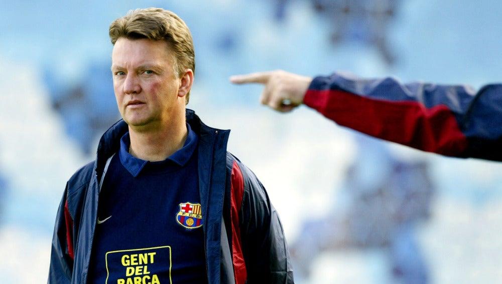 Louis van Gaal, durante su etapa como entrenador del FC Barcelona