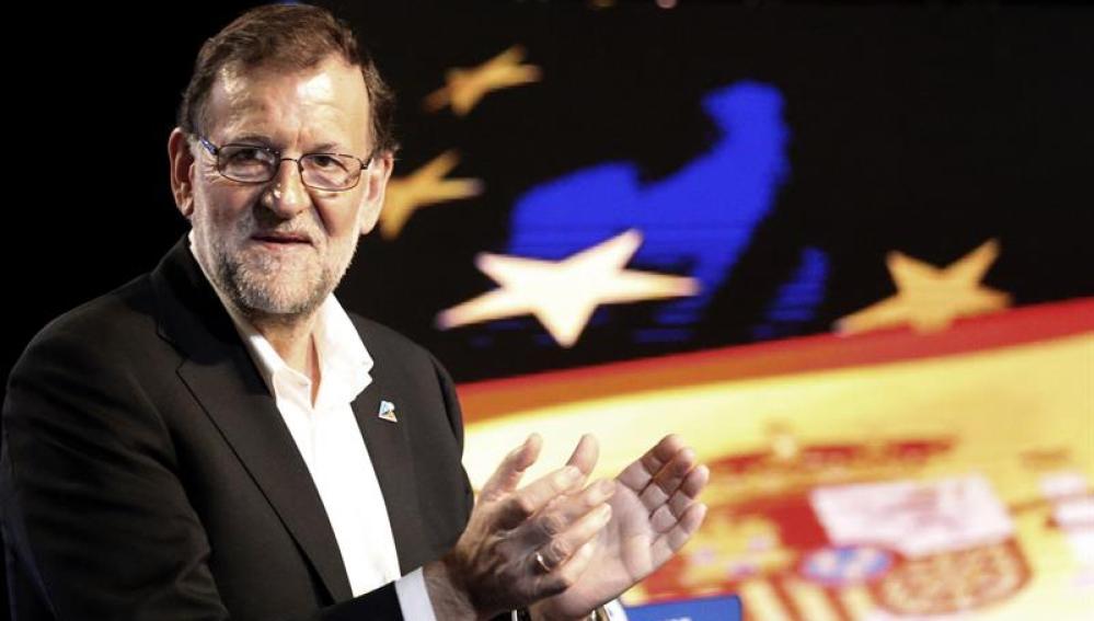 Mariano Rajoy habla desde Bilbao.
