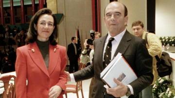 Patricia Botín con su padre Emilio Botín en una imagen de archivo