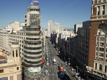 La calle Gran Vía de Madrid