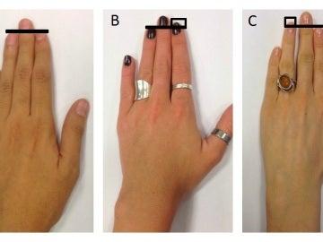 Personalidad según la diferencia entre los dedos anular e índice