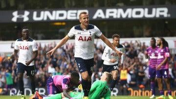 Harry Kane celebra su gol ante el Sunderland