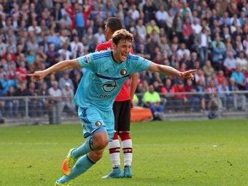 El Feyenoord celebra un gol