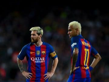 Messi y Neymar, en el Barça