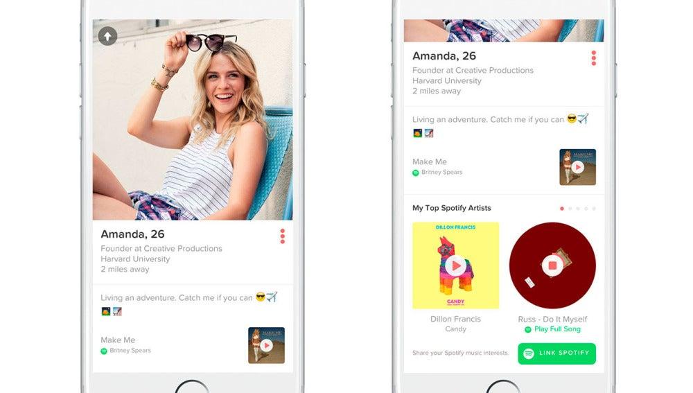 Tinder y Spotify se alían