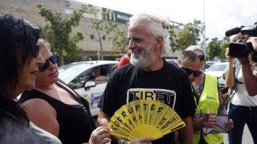 El exgerente de Imelsa Marcos Benavent a su llegada a la ciudad de la justicia para declarar en calidad de investigado