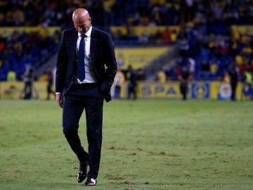 Zinedine Zidane abandona el campo de Las Palmas