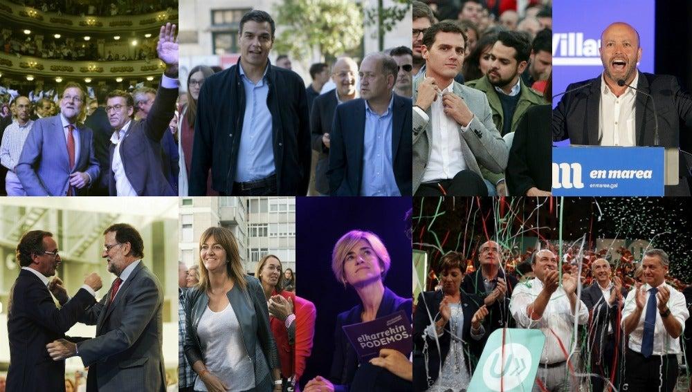 Los candidatos a los Gobiernos autonómicos, durante sus actos de campaña