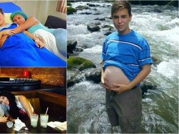 La pareja ha hecho historia en el país al ser los primeros transexuales en dar a luz a un hijo