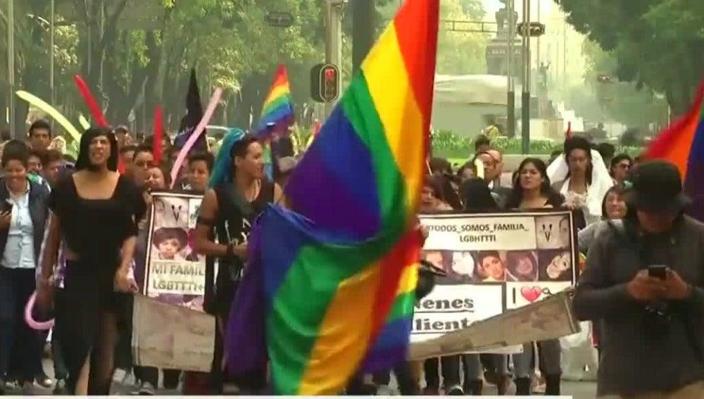 Manifestación LGTBI en México