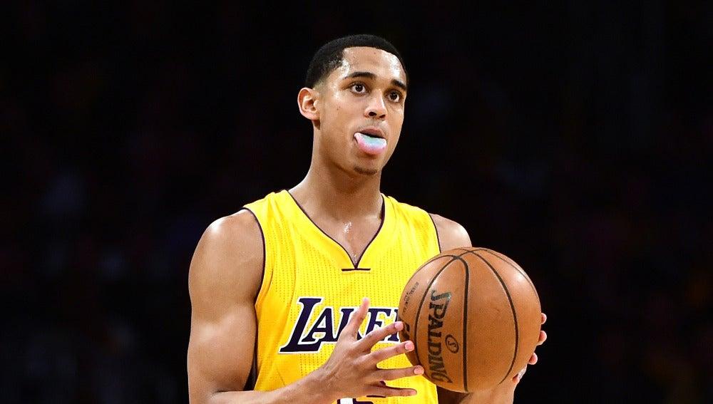 Jordan Clarkson, durante un partido con los Lakers