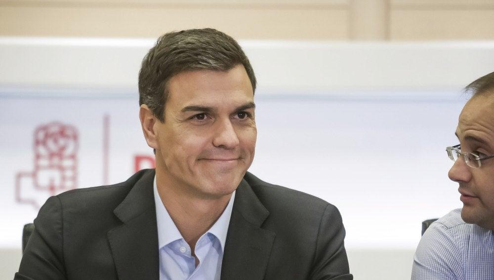 Pedro Sánchez en la Comisión Permanente del PSOE