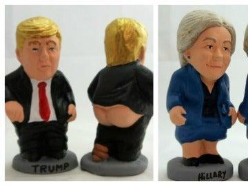 Los 'caganers' de los candidatos a la presidencia de los EEUU