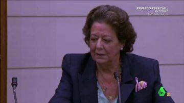 La cara triste de Rita Barberá