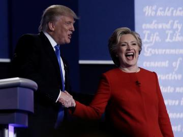 Donald Trump y Hillary Clinton, en el debate presidencial
