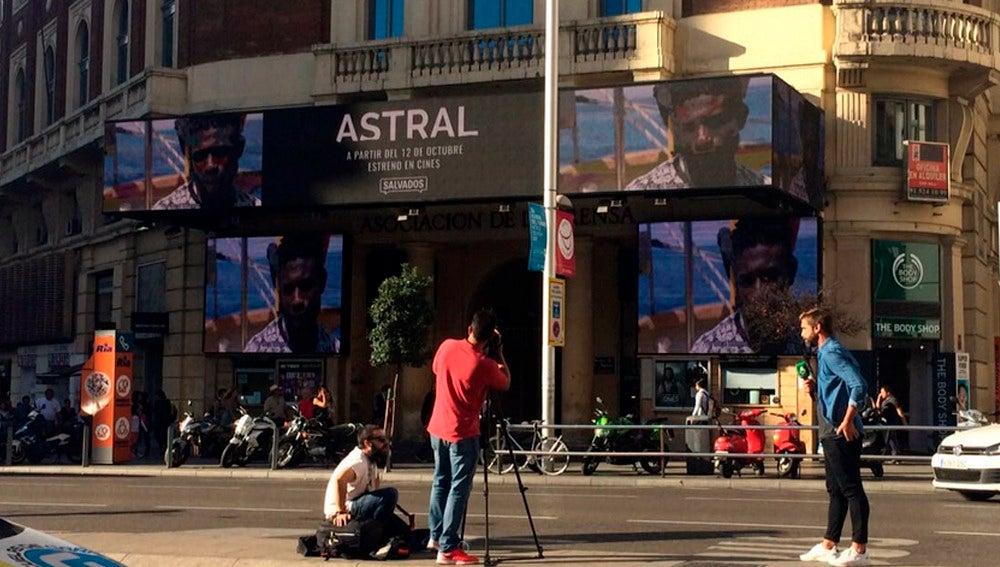 Astral en las pantallas de los Cines Palacio de la Prensa de Madrid