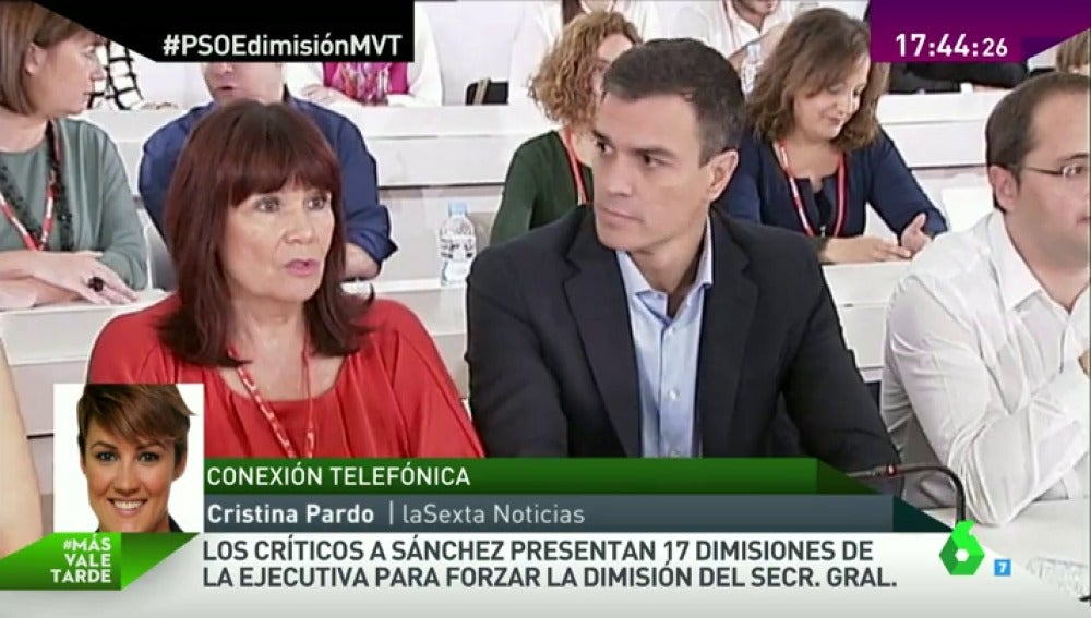 """Frame 3.458834 de: Pardo: """"En el PP no están dando palmas, sino alucinando con el PSOE. Dicen que es dramático para los socialistas"""""""