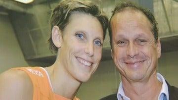Ingrid Visser y su marido