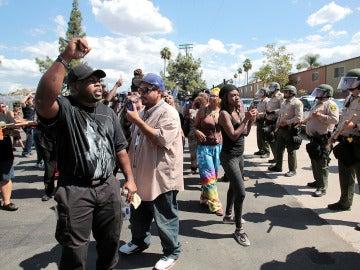 Protestas en El Cajon, California, tras la muerte de un joven negro