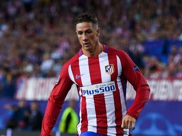 Fernando Torres, en el partido ante el Bayern de Múnich