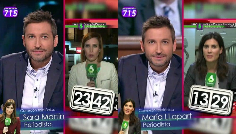 Zapeando conecta vía telefónica con Sara Martín y María Llapart