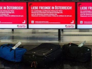 Funcionarios del aeropuerto de Graz, en Austria, encuentran intestinos de un hombre en una maleta