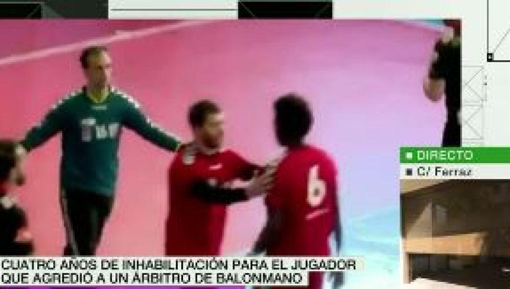 Sancionado el jugador de balonmano que agredió a un árbitro durante un partido