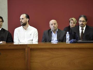 Los acusados Juan Cuenca y Constantin Stan