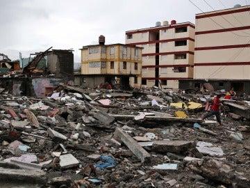 Los destrozos y estragos causados por el paso del huracán Matthew en Baracoa, provincia de Guantánamo (Cuba)