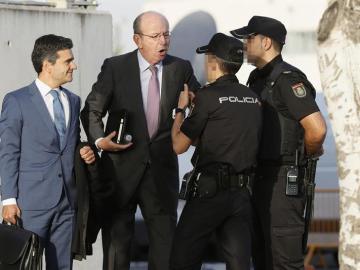 El exjefe de la Casa del Rey, Rafael Spottorno, a su llegada a la Audiencia Nacional