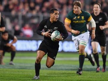 Aaron Smith, durante el partido contra Sudáfrica