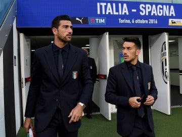Graziano Pelle, junto a Sansone
