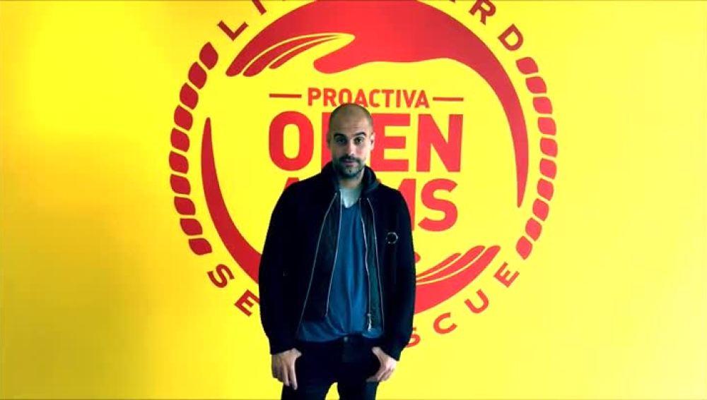 Guardiola se suma a la labor de ProActiva Open Arms