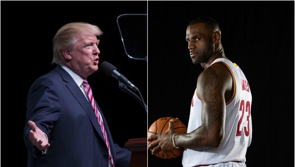 Donald Trump y Lebron James, enfrentados