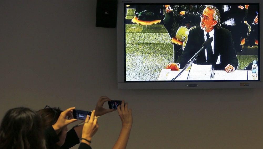Francisco Correa declarando en la Audiencia Nacional