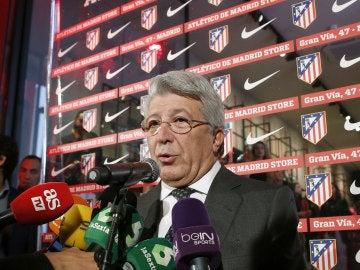 Enrique Cerezo, presidente del Atlético de Madrid