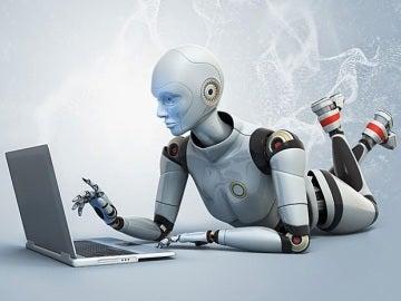 Un robot en el ordenador