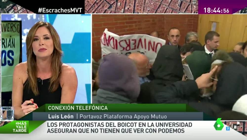 Mamen Mendizábal habla con Luis León