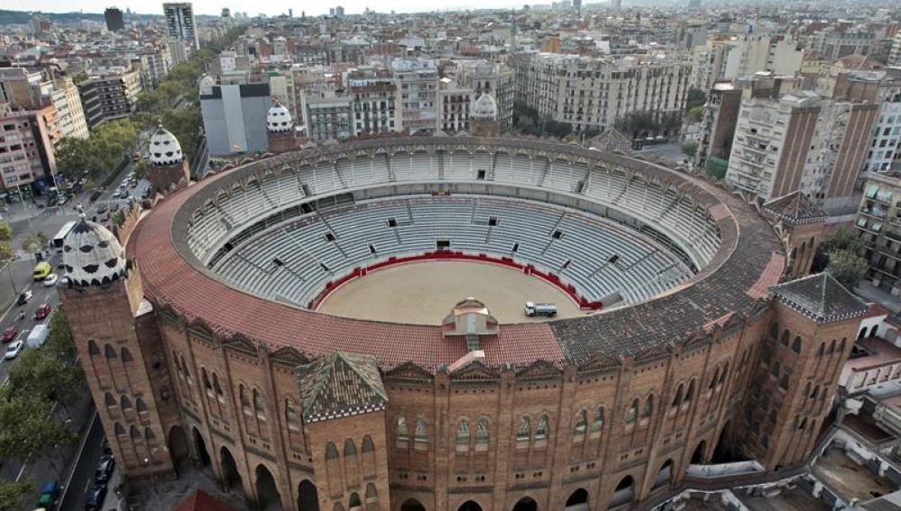 Vista de la plaza de toros de la Monumental de Barcelona
