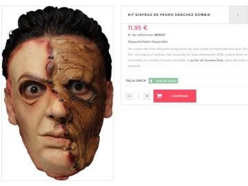 Careta 'zombie' de Pedro Sánchez